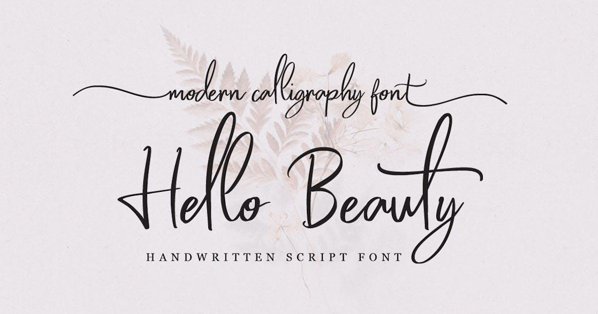 Download Hello Beauty - Handwritten Font by Voltury