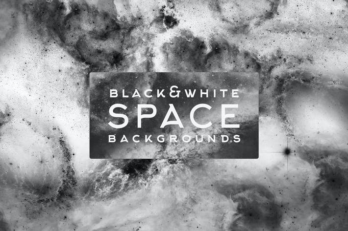 Black&White Space Backgrounds