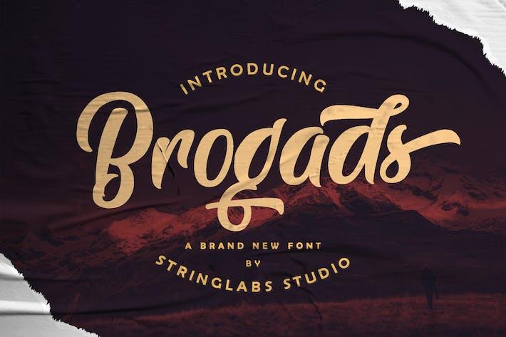 Thumbnail for Brogads - Bold Script Retro Font