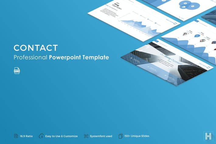 Contact Powerpoint Template By Haluze On Envato Elements