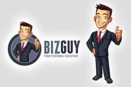 Cartoon Young Businessman Mascot Logo