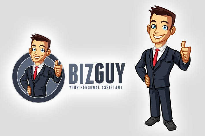 Thumbnail for Cartoon Young Businessman Mascot Logo