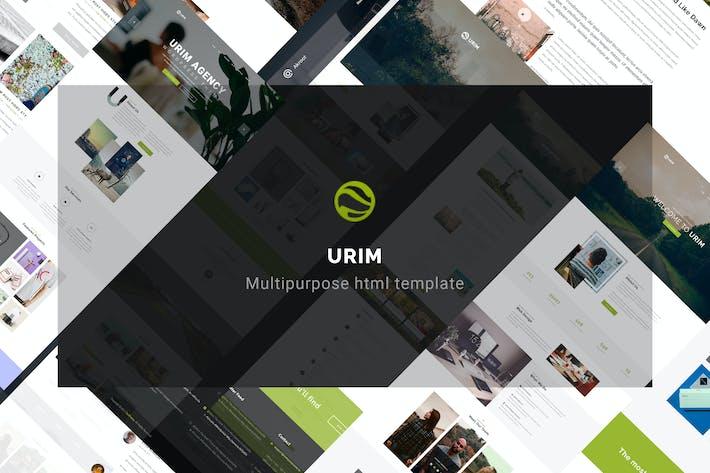 Thumbnail for Urim   Creative Multipurpose HTML Template