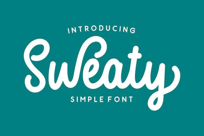 Thumbnail for Sweaty - Bold Script Font