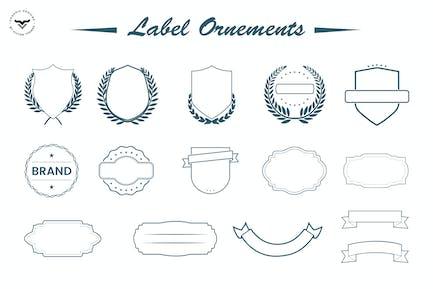 Adornos de etiqueta
