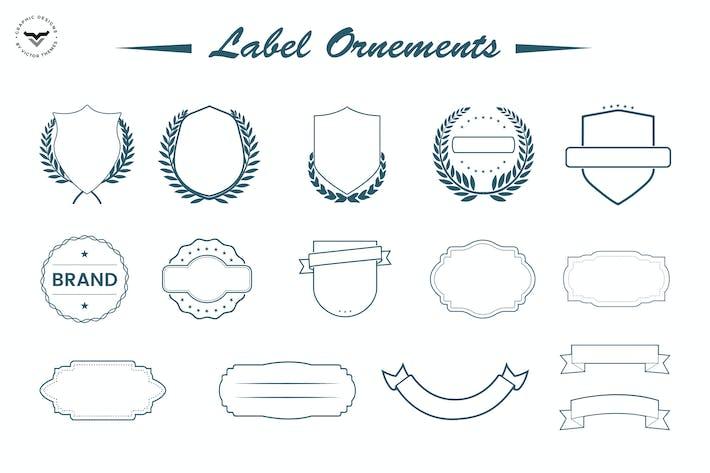Ornements d'étiquettes