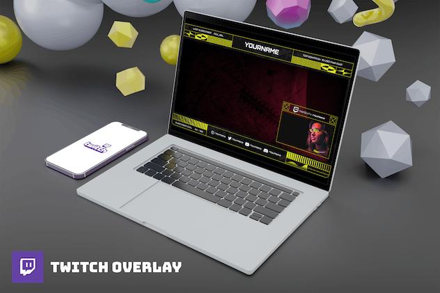Yellowcube - Twitch Overlay Template