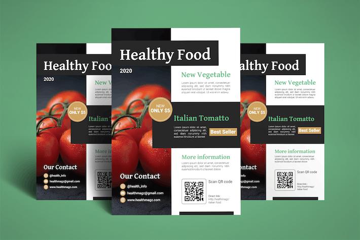 Thumbnail for Flyer für Gesunde Lebensmittel