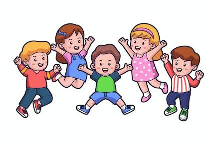Illustration de saut pour enfants