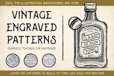 Vintage Engraved Patterns - Photoshop