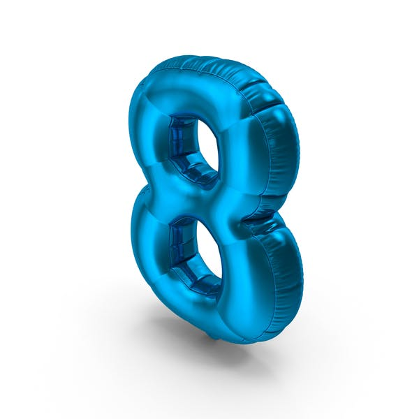 Thumbnail for Foil Balloon Number 8 Blue