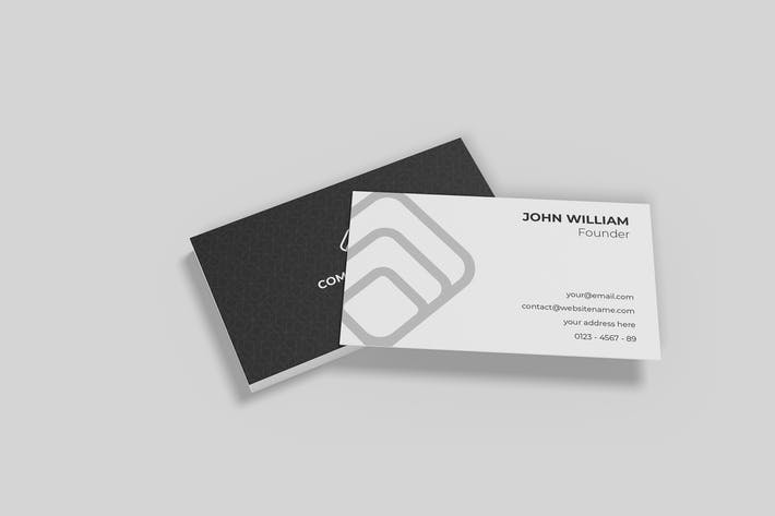 Thumbnail for Minimalist Business Cards Mockup Vol. 4.1