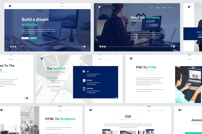 Website Design Powerpoint Template