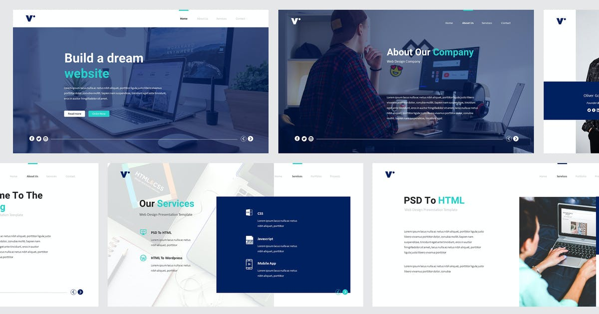 Website Design Powerpoint Template By Giantdesign On Envato Elements