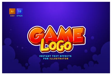 Game Logo Text Effects for Illustrator