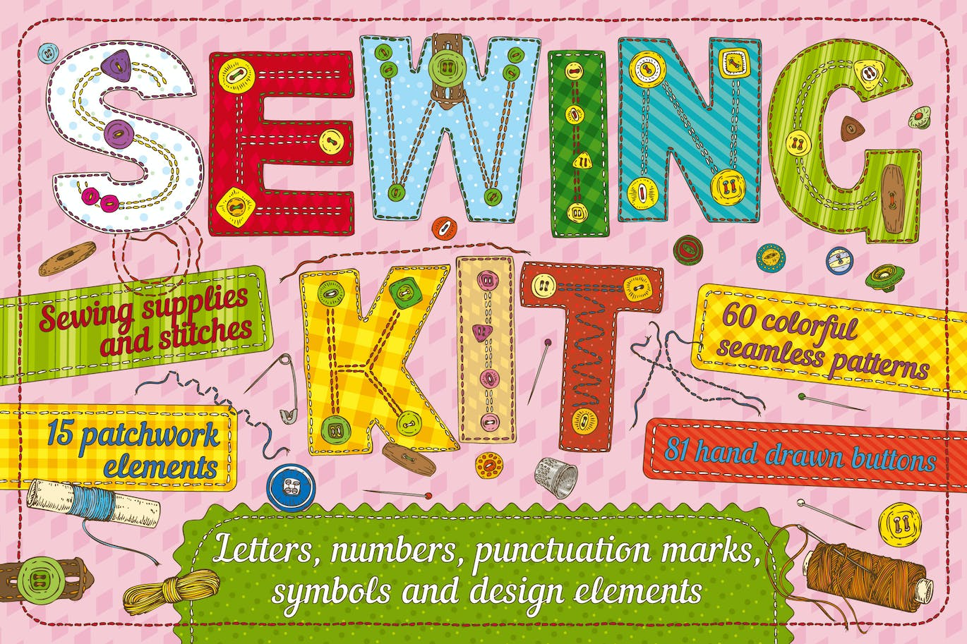 Sewing Kit by deepfuze on Envato Elements