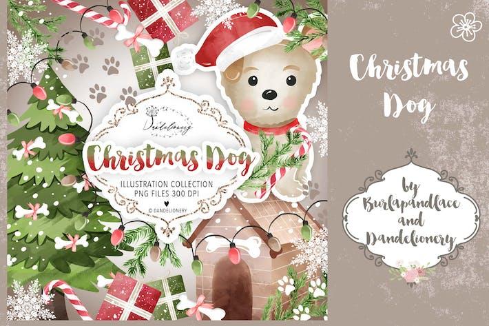 Thumbnail for Cute Christmas Dog design