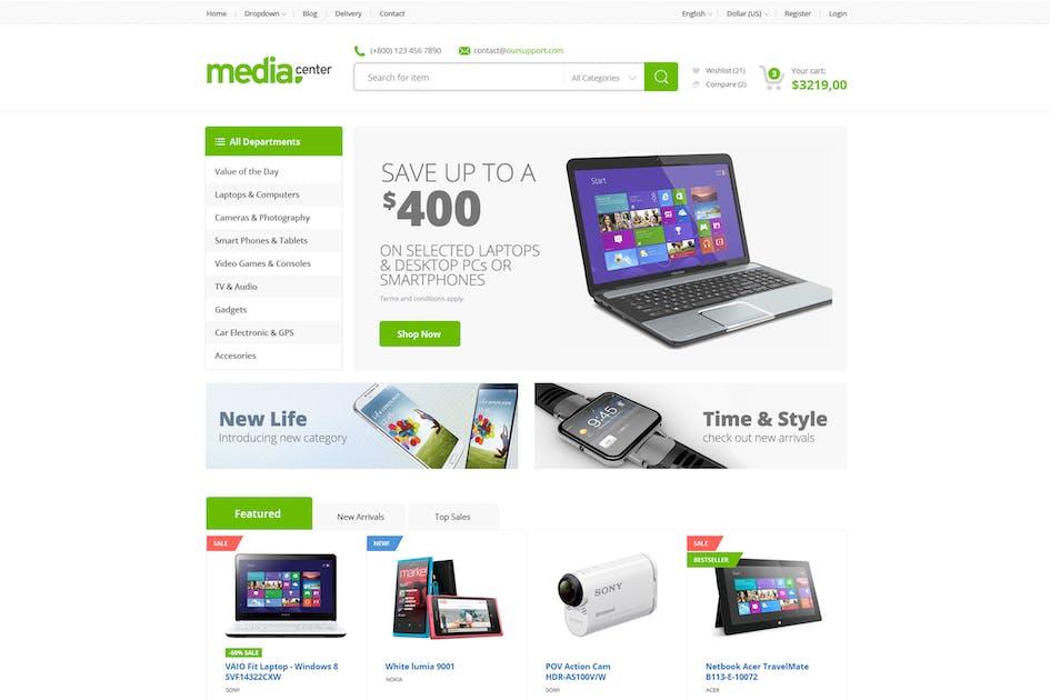 Download Media Center - Multipurpose Drupal Theme by tabvn