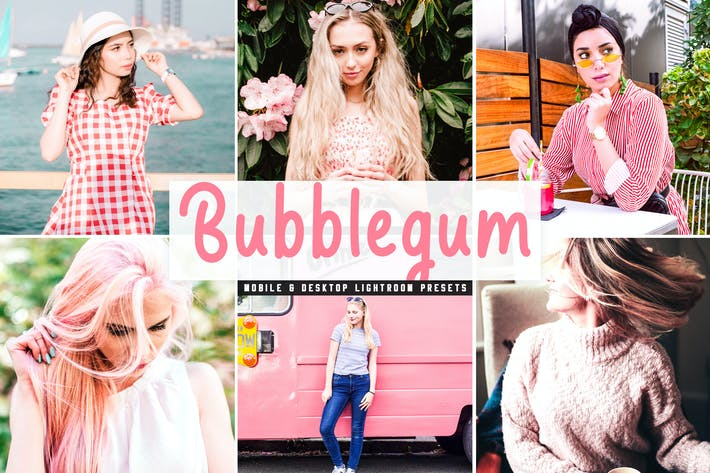 Thumbnail for Bubblegum Mobile & Desktop Lightroom Presets