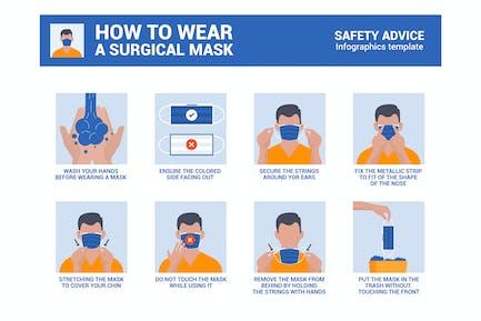 Cómo usar una máscara quirúrgica correctamente