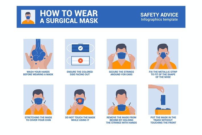 Thumbnail for How to wear a surgical mask properly