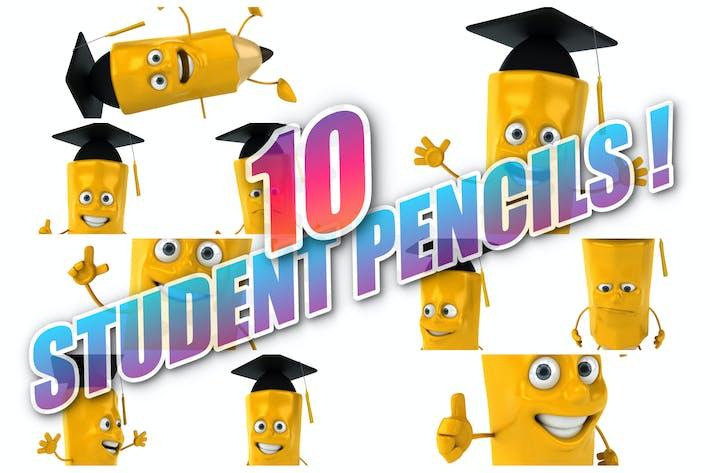 10 student Pencils !