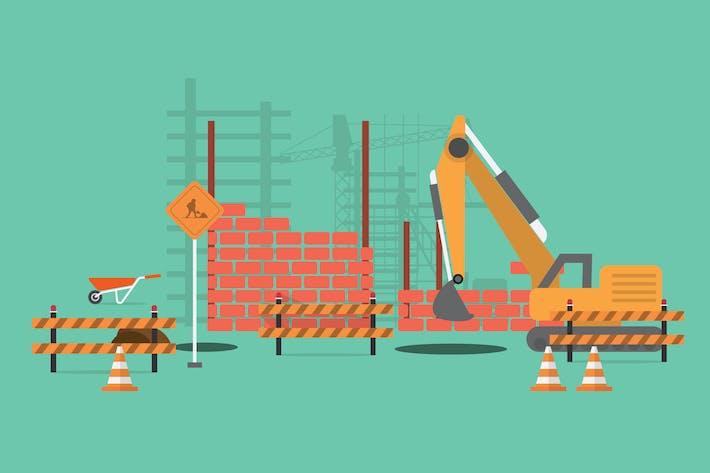 Thumbnail for Construction - Illustration Background