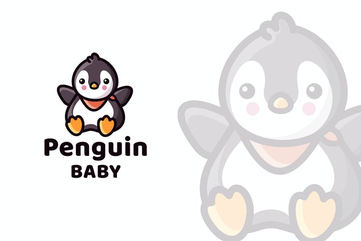 Thumbnail for Penguin Baby Cute Logo Template