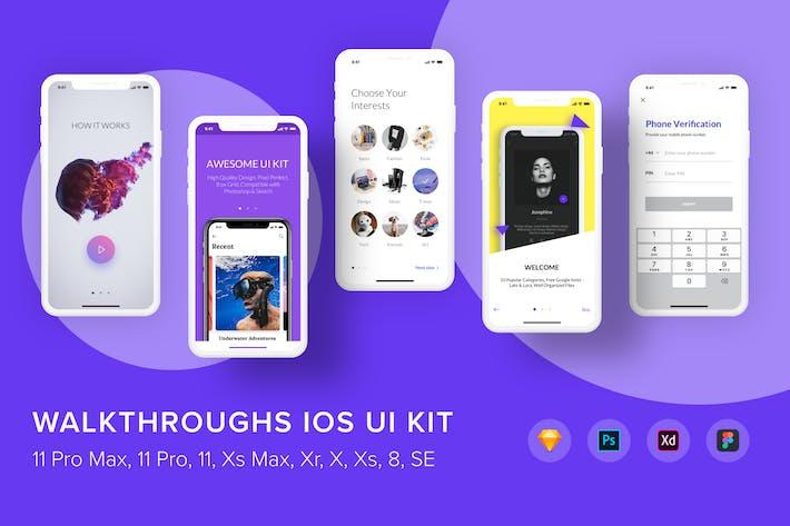 Thumbnail for Walkthroughs iOS UI Kit