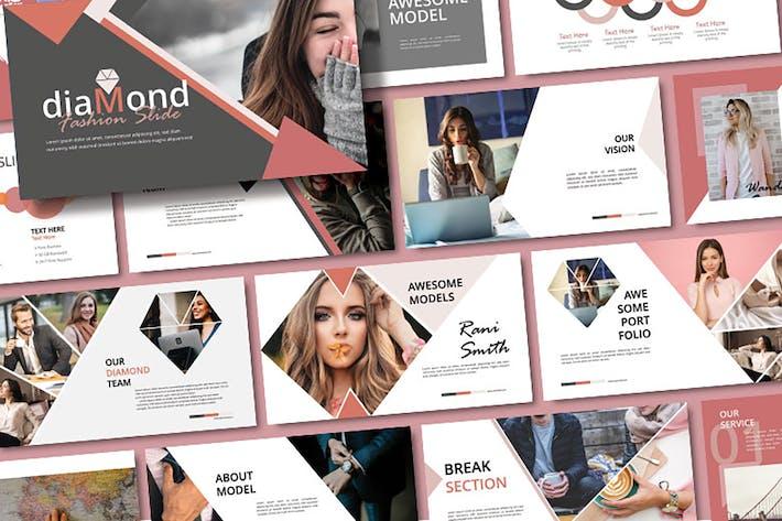 Thumbnail for DIAMOND - Fashion Google Slides Template