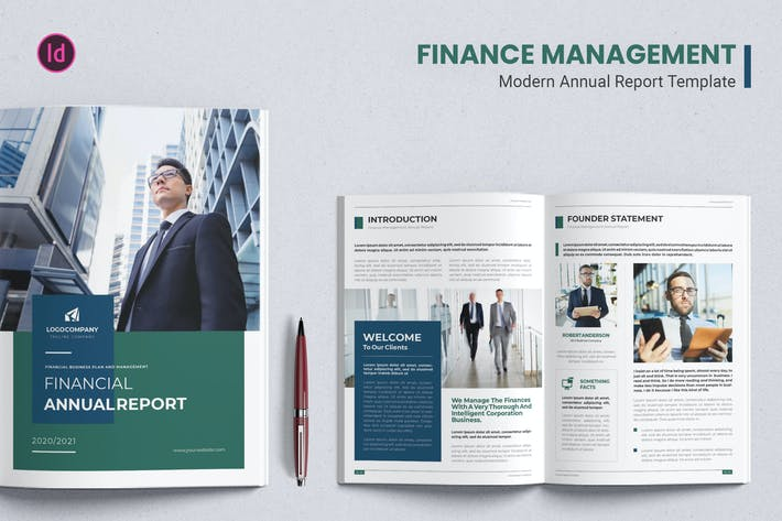 Thumbnail for Finance Management – Annual Report Template