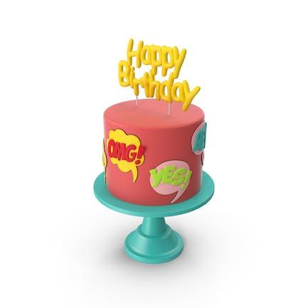 Comic-Geburtstagskuchen