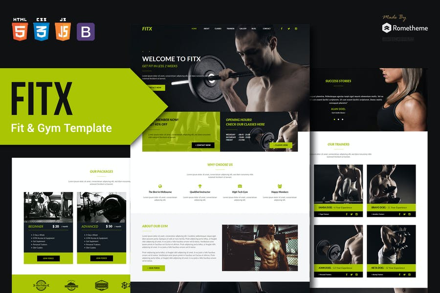 FitX - Fitness & Gym HTML Template RS