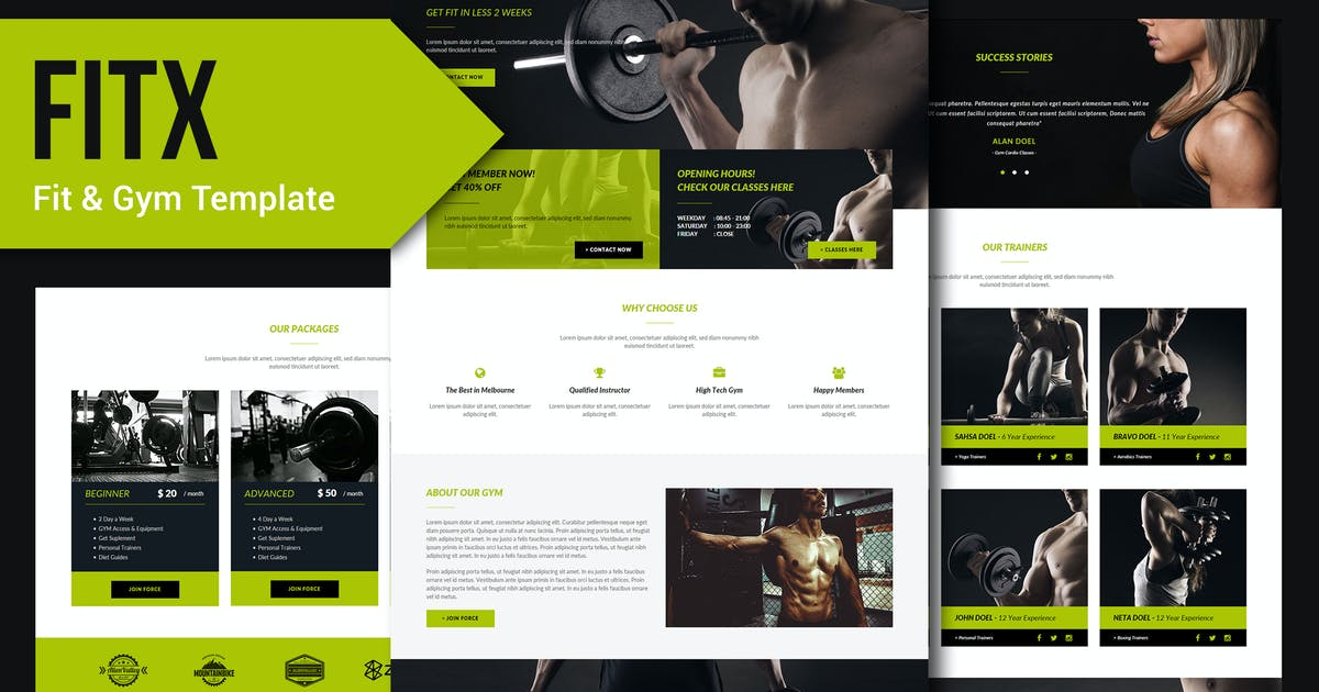 Download FitX - Fitness & Gym HTML Template by Rometheme