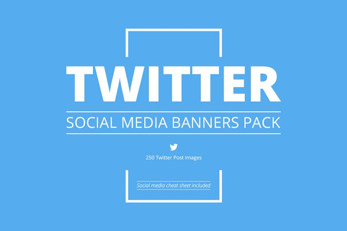 Thumbnail for Twitter Social Media Banners Pack