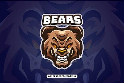 Bears Esports Mascot Logo