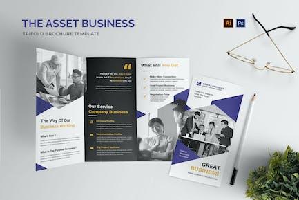 Asset Business Trifold Brochure