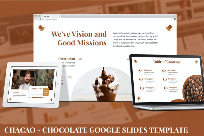 Thumbnail for Chocao - Chocolate Google Slides Template