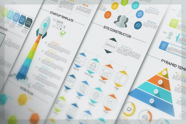 Cover Image For Pure Flat Infographic