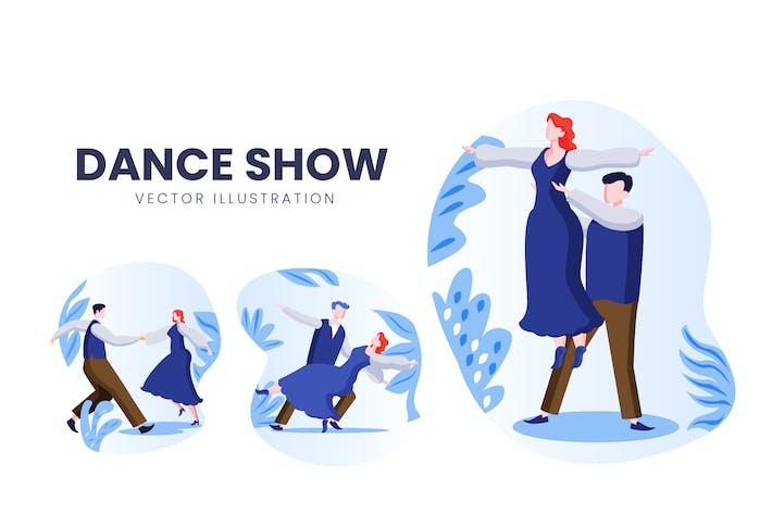 Dance Show Vektor zeichensatz