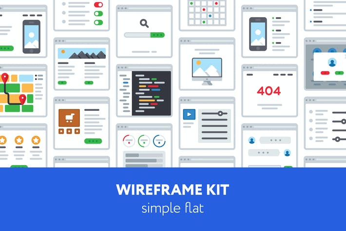 Thumbnail for UX Wireframe kit