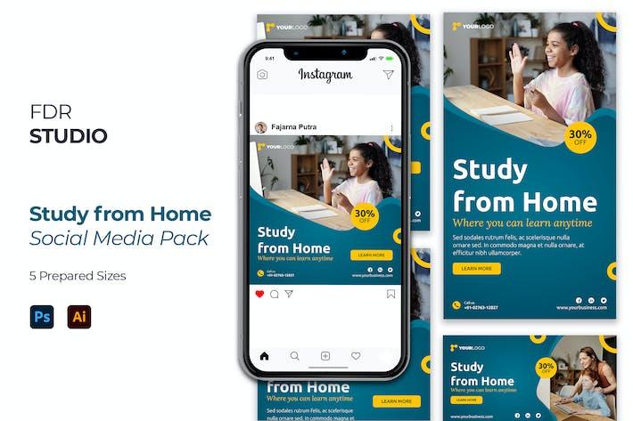 Thumbnail for Studie von zu Hause aus Social Media Pack