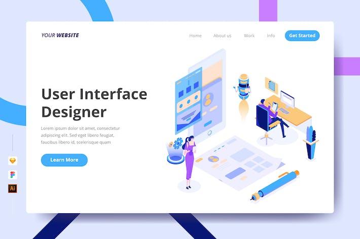 Thumbnail for User Interface Designer - Landing Page