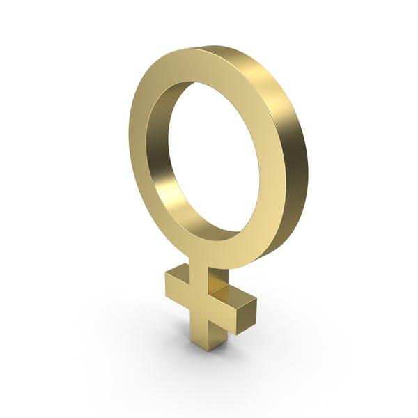 Thumbnail for Female Gender Symbol Gold