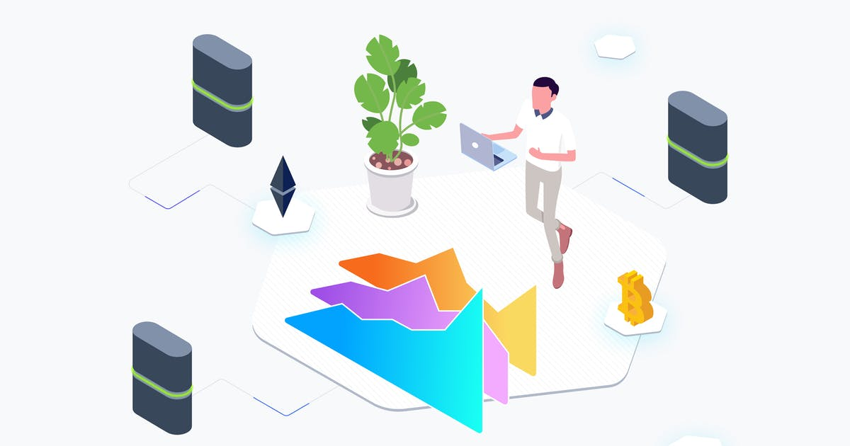 Download Trade Cryptocurrency Lab Isometric Graphic - THM by angelbi88