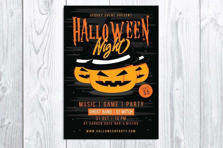 Thumbnail for Halloween Night Flyer
