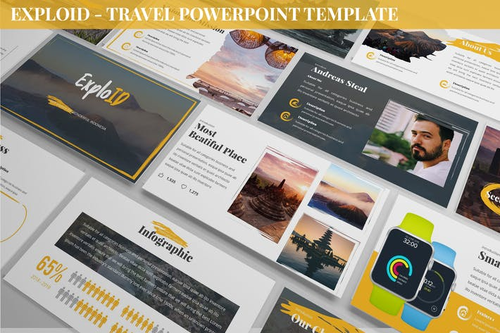 Thumbnail for Exploid - Travel Powerpoint Template