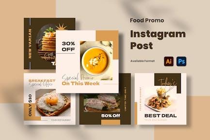 Publication Instagram Promo Alimentaire
