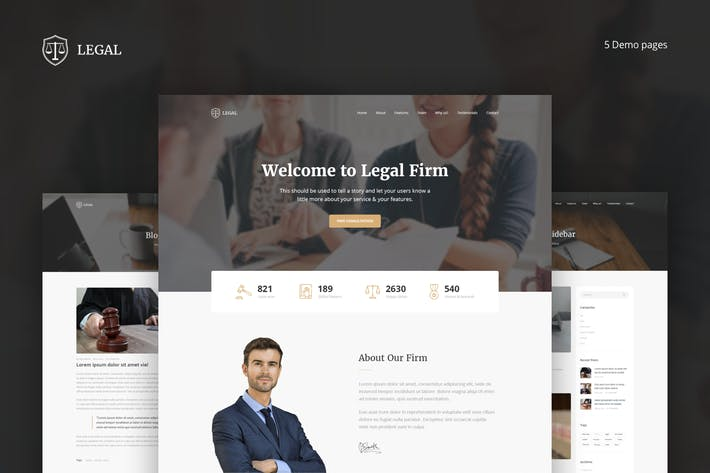 Cover Image For Legal - Law Firm OnePage HTML Template