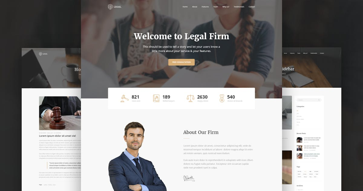 Download Legal - Law Firm OnePage HTML Template by zytheme